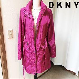 DKNY Women's Longline Hooded Jacket - S